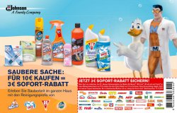 Gutschein zum Ausdrucken: 3 Euro Sofortrabatt für SC Johnson Produkte 10€ MBW wie Pronto, WC Ente …