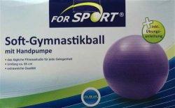 Gymnastikball – Yogaball   (65 cm) inkl. Handpumpe und versand nur  7,95 EUR @ebay
