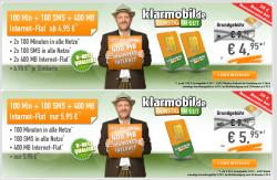 Klarmobil Allnet-Starter 100 Min + 100 SMS + 400 MB (D-Netz) ab 4,95€ mtl. @ Handybude