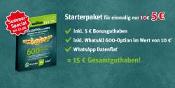 Kostenlos WhatsApp Prepaid Simkarte mit 15€ Startguthaben + 1 Monat Whats all 600 gratis