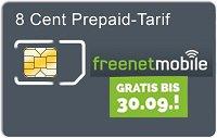 Kostenlose Freenet Simkarte mit 5€ Startguthaben.