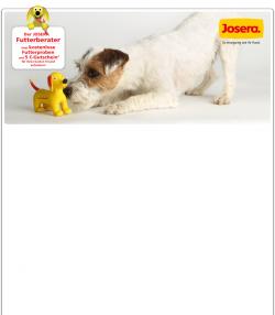 Kostenlose JOSERA Hundefutterprobe oder Kantzenfutter mit 5 €-Gutschein @ Josera