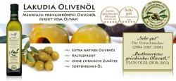 Lakudia – Griechisches Premium-Olivenöl mit geringem Fettsäureanteil inkl. Versand  9,99 € statt 22,93€ für 2x500ml@Groupon