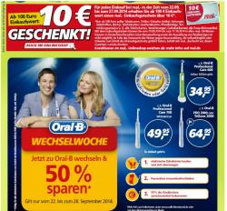 [ LOKAL ] 10€ Einkaufsgutschein ab 100€ Einkaufswert + Oral B 50% Cashback @ Real