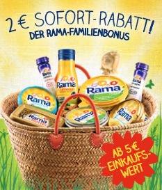 [LOKAL] 2€ (bis 40% ) Rabatt auf Rama Produkte ab 5€ Einkaufswert @Rewe-real-LIDL-Edeka-Netto……….