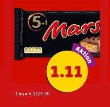 [LOKAL] 6er Packung Mars, Snickers oder Twix für 1,11€ @Penny