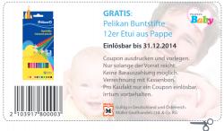 [LOKAL] Gratis Pelikan Buntstifte 12er Etui aus Pappe @ Müller