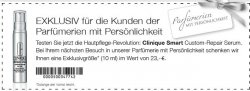 [LOKAL] Gratis statt 16,56€ –  10ml Clinique Smart Custom Repair Serum @diverse Parfumerien