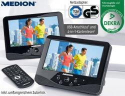 @Medion B-Waren SALE: z.B. 7 Tragb. Twin DVD-Player MEDION® LIFE® P72027 (MD 84106)  Xvid und MPEG4, 4 in 1 Kartenleser, USB-Anschluss, für 89,95 zzgl. Versand (idealo neu: 185,95€)
