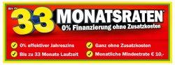 Neue MediaMarkt Finanzier-Aktion: ab 100€ Warenwert: z.B iPhone6 ohne Vertrag: 0% eff. Zins, bis 33 Monate, ohne Zusatzkosten, min. 10€ im Monat