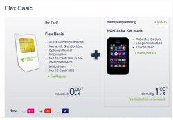 Nokia Asha 230 (idealo: 50€) für 1€ mit kostenlosem Handyvertrag (Vodafone-Netz, ohne Fixkosten, kein Anschlusspreis)@mobilcom-debitel