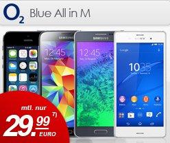 O2 Blue Allnet Flat mit 1GB LTE+ zb.Samsung Galaxy S5 für 29,99€ mtl. @Handytick
