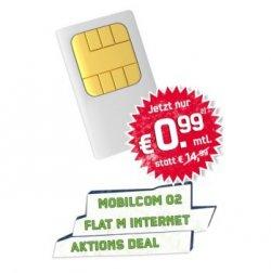 O2 Flat M, Flatrate ins dt. Festnetz + Internetflat 500 MB ab 0,99€ mtl. @handy-park