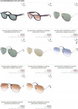 Ray-Ban Sonnenbrillen für 69,90€ + 4,95€ Versand @Shopping.de