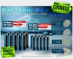 Rießiges Batteriepack ( 32 teilig ) GRATIS @ pearl, nur Versandkosten 4,90 Euro