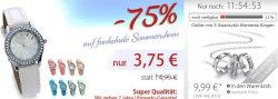 Sommeruhren 3,75€ statt 14,99€ oder Collier mit 3 Swarovski Ringen 9,99€ statt 49,99€ + 10€ Gutscheine @silvity