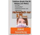 Talkline o2 Flat M Aktion für effektiv 1€ mtl. @ Handy-Park.de