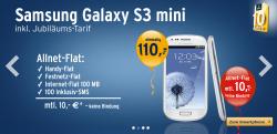 Tchibo.de: Allnet-Flat ohne Vertragsbindung für nur 10 Euro monatlich + Samsung Galaxy S3 mini für 110 Euro (statt 146,49 Euro bei Idealo)