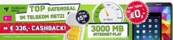Telekom 3GB Daten Flatrate inkl. Hotspotflatrate effektiv ab 5,99€ mtl. @ Getmobile