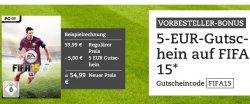 @thalia.de:  5,-€ Rabatt Gutschein für FIFA 2015 in Vorbestellung z.B. für Wii mit Gutschein nur 34,99€