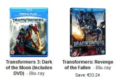 Transformers 2 +3 (Blu-ray) für je 5,15€ inklusive Versand @ Zavi.com