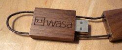 USB-Stick im Holzdesign kostenlos bestellen @wasawohnen