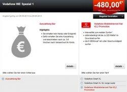 Vodafone 6GB Mobile Internet Flat mit 225Mbit/s LTE für eff. 4,99€ mtl. @24mobile