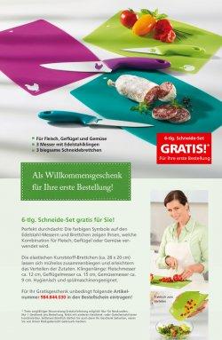 Witt-Weiden.de gratis Begrüssungsgeschenk – 6 tlg. Schneideset 3 Edelstahlmesser 3 Schneidebrettchen