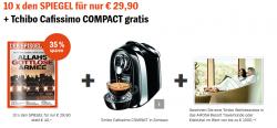 10x den SPIEGEL  + Tchibo Cafissimo COMPACT gratis für nur 29,90€ @Spiegel-vorteilsangebote.de