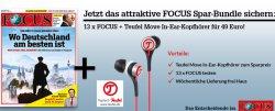 13 x Focus Abo für 49€ + Gratis Teufel Move In-Ear Kopfhörer (Idealo: ab 60€)