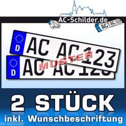 2 EU Kennzeichen inkl. Wunschbeschriftung für 9,99€ inkl. Versand @ Ebay