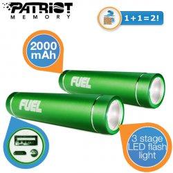 2 Stück Patriot FUEL Aktive 2000 mAh Akkus mit LED-Taschenlampe für 16,95 € zzgl. 5,95 € Versand (30,65 € Idealo) @iBOOD Extra