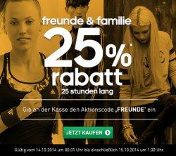 25% auf alles bei Adidas ohne MBW