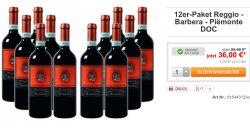 27,50€ inc. Versand mit Gutschein für 12 Fl. Reggio Barbera Qualitätswein (2,29€ statt 7,99€ je Flasche)