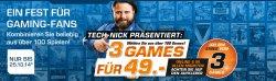3 Games für Playstation, Xbox, PC oder Wii für 49 € statt 147 € @Saturn