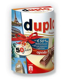 50€ OPODO Reisegutschein beim Kauf einer duplo-Aktionspackung