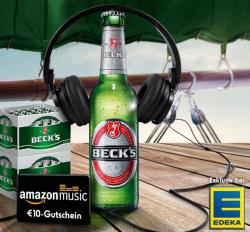 Aktion von Becks & Edeka [Lokal]: 2 Kästen Becks kaufen und 10€ Amazon Musik Gutschein abstauben!