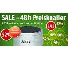Alle 24 Stunden 10 neue Preisknaller bei @voelkner z.B. AEG Bluetooth-Lautsprecher BSS 4826 für 12€ (idealo: 19,98€)