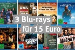 @Amazon Aktion: 3 Blu-ray´s für 15€, 3 BluRays für 18€ oder 3 BluRays für 20€ + Weitere Angebote