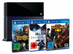 @amazon.de: 399,-€ für PlayStation 4 + 3 Games FSK 18 (Killzone Shadow Fall + Second Son + Knack)