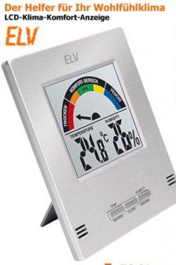 Angebot: LCD Klima Komfort Anzeige bei ELV nur 9,95€ (nächster Preis 19,90€)