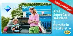 Aral SuperCard Waschen + PetitBistro Gutschein ab 13,90 € @ DailyDeal