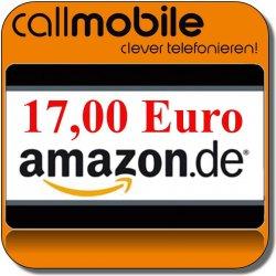 Callmobile SIM mit 10 Euro Startguthaben + 17,00 Euro Amazon Gutschein für nur 2,95 Euro bei Ebay