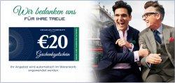 Chales Tyrwhitt: Gutscheincode über 20€ ohne MBW ! (7€ Versand)