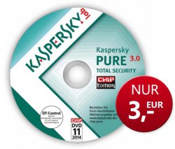 @chip.de: 3,-€ für Vollversion Kaspersky PURE 3.0 als Dowload für 1 Jahr (auch auf Heft CD)