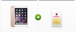 D2 Internet Flat (6GB mit LTE) + Apple Ipad Mini 3 für 1€ oder Apple Ipad Air 2 für 99€, Grundgebühr 24,99€ mtl.