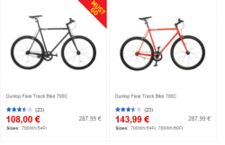 Dunlop Fixie Track Bike 700C ab 108 € @ SportDirect