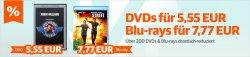 DVDs für 5,55€ und Blu-rays für 7,77€ @ Buch.de