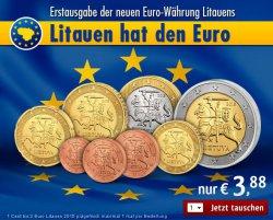 €-Kursmünzensatz Litauen 1:1 tauschen und nur Versand 2,95€ zahlen @reppa