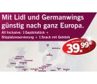 Germanwings Europa One-Way Tickets ab 39,99€ inkl. Steuern @ Lidl